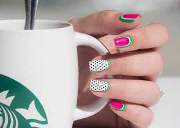 JamAdvice_com_ua_Fruits-and-sweets-totally-hip-summer-nail-designs-hot-pink-polish-base-watermelon-accent-polka-dots-art