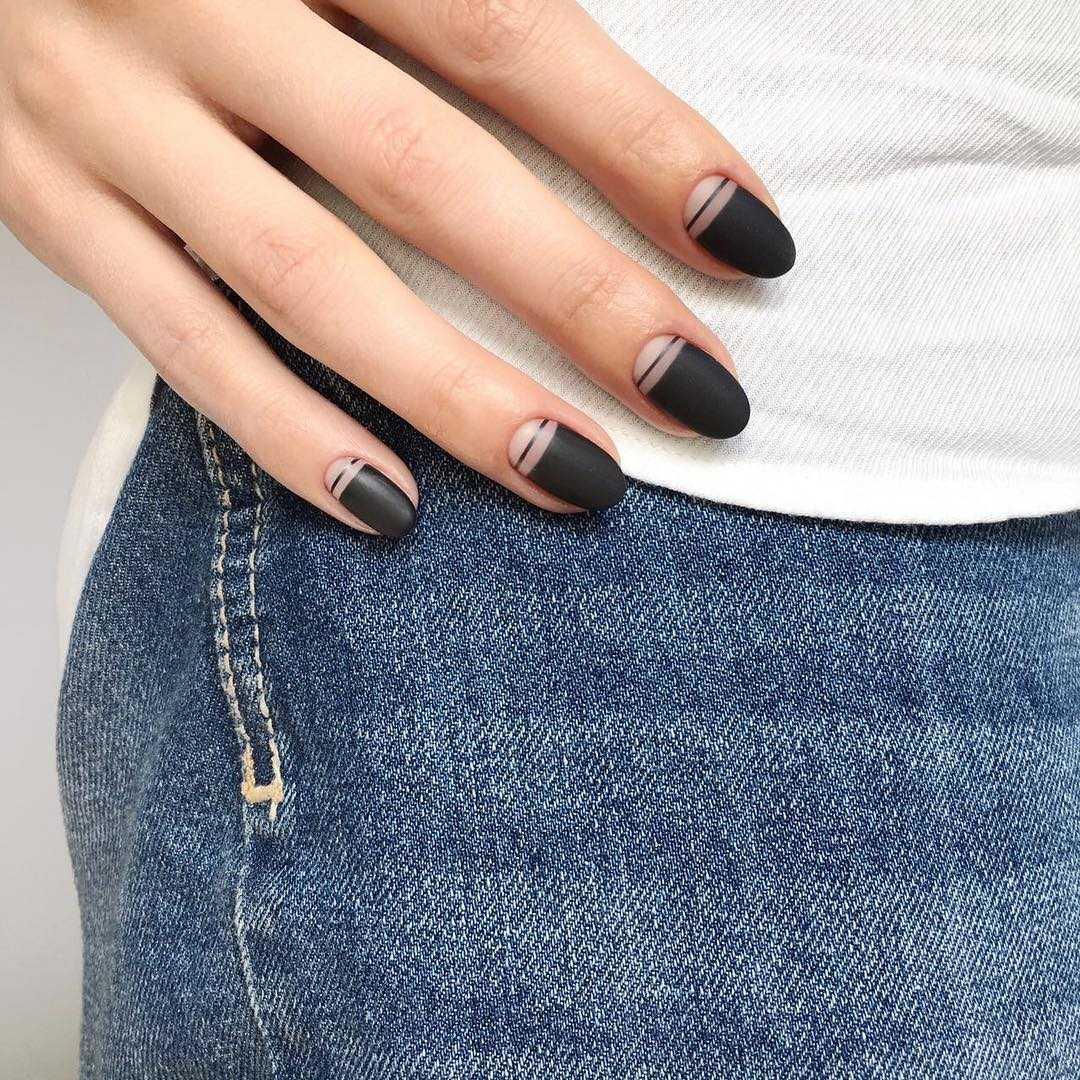 как сделать миндалевидные ногти