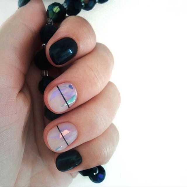 дизайны ногтей с полосками