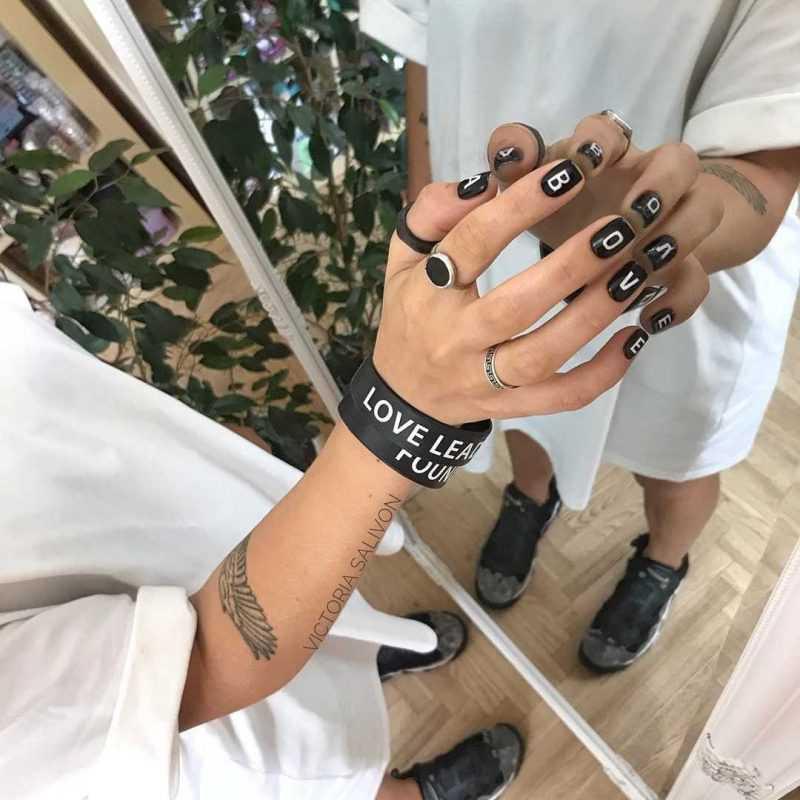 слайдеры на короткой длине ногтей